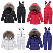 цена на 2019 New Children's Down Jacket Baby Winter Clothes Kids Down Jacket Set Baby Boys&girl Winter Clothes Overalls Infant Coat
