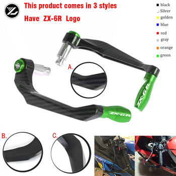 Motocycle Handlebar Handle grips Bar Ends Brake Clutch Levers Guard Protector For Kawasaki ZX-6R ZX6R ZX 6R 2009-2018 2017 2016 motorcycle accessories wind shield handle brake lever hand guard for kawasaki zx 10r zx 6 zx 6r zr 6r zx 7r zx 12r zx 14r