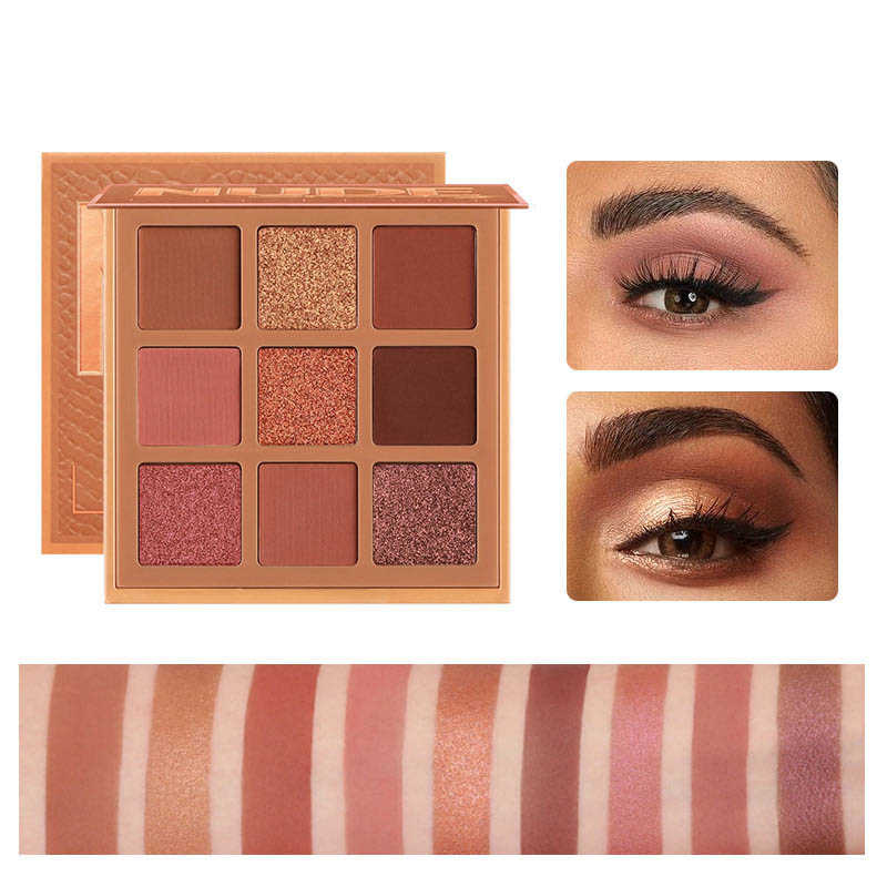 Cellacity 9 สี Eyeshadow Palette Glitter อายแชโดว์กันน้ำ Shimmer METALLIC ง่ายแต่งหน้าอายแชโดว์