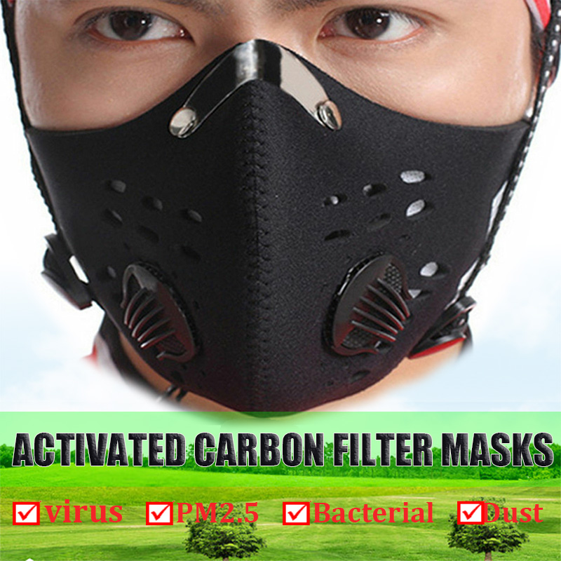 Unisex Anti Dust Mask  Women Men Activated Carbon Face Mask Muffle Running Cycling Mouch Masks