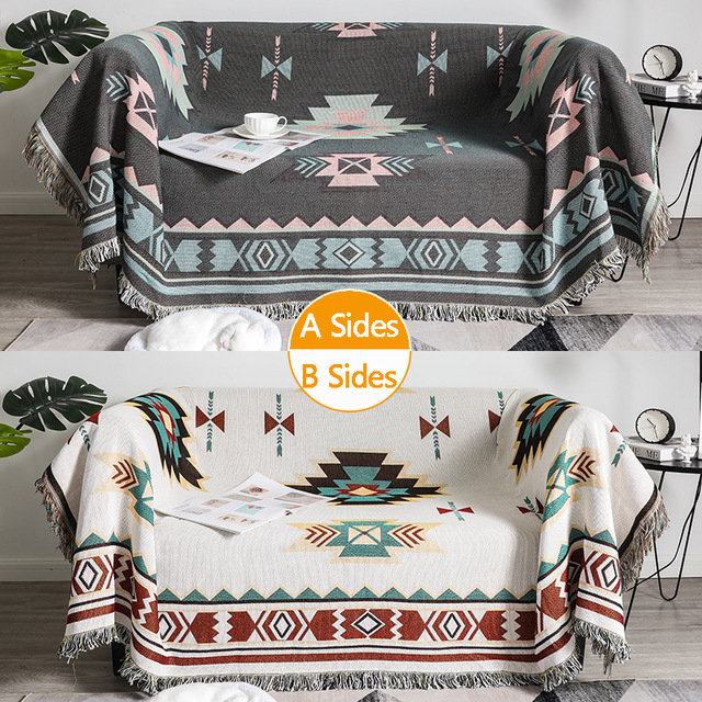 Knitted Cotton Plaid Throw Blanket Towel Office Nap Shawl Leisure Air Conditioning Blankets Sofa Hanging Tapestry Decorative