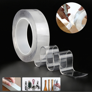 Transparent Magic Nano Tape Washable Reusable Double-Sided Tape Adhesive Nano-No Trace Paste Removable Glue Cleanable Household