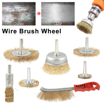 цена на 7pcs Polishing Wire Wheel Brushes Set Kit for Mini Drill Rotary Tools Polishing Dremel Brush Dremel Accessories