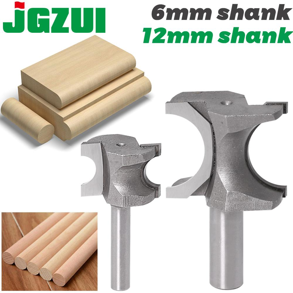 JGZUI 1PCS Half Round Side Cutter BitHalf Round Side Cutter Bit Router Bit   Router Bit 6mm Shank 12mm Shank Woodworking Bits