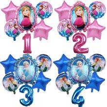 1 conjunto disney congelado princesa elsa balões de hélio 32 polegada número do chuveiro do bebê festa decoração balões crianças aniversário ar globos