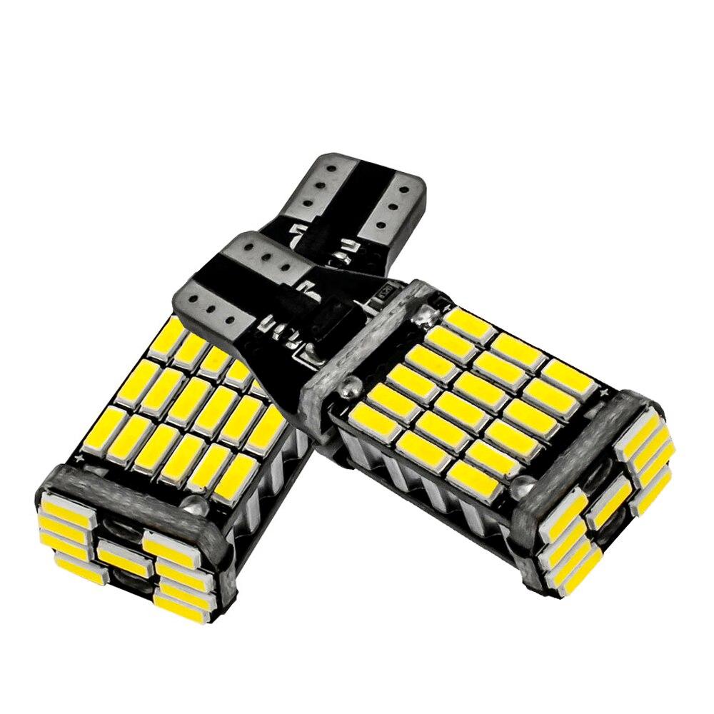 1XSuper Bright T15 t10 24v 12v 45 SMD LED 4014 tipo CAN bus para coche de coche sin ERROR Luz de marcha atrás de luz de marcha atrás de la lámpara blanca