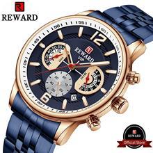 watches mens 2020 luxury sport watch watch for men casual watch waterproof wrist watch for men #8217 s quartz watch mens tanie tanio REWARD Bracelet Clasp 22cm CN(Origin) Business RoHS 3Bar ALLOY 13mm Hardlex RD81017M 20mm ROUND Quartz Wristwatches Paper