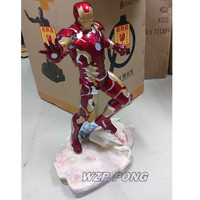 50cm Avengers Endgame Iron Man mk43 battle form Statue Resin Full length Action Figure Collectible Model Toy Gift