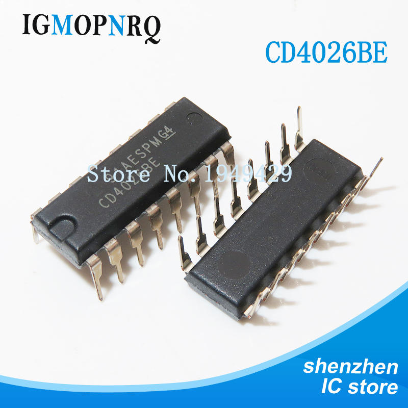 10PCS CD4026BE DIP CD4026 DIP16 HEF4026BP DIP-16 HCF4026BE new and original IC image