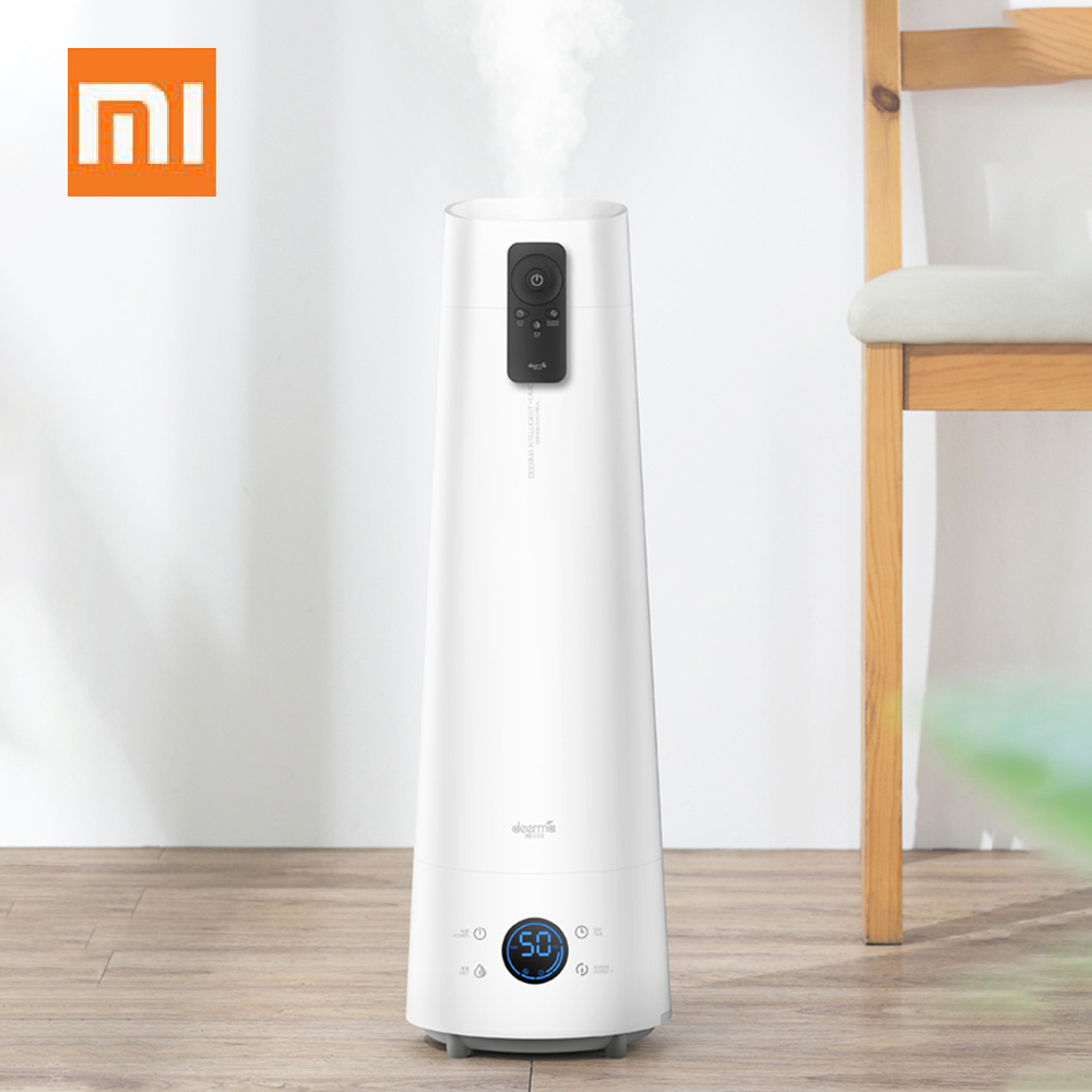 Xiaomi Deerma 4L Air Humidifier Eco-System Floor-Standing Humidifier Silent Household Aromatherapy Essential Oil Remote Control