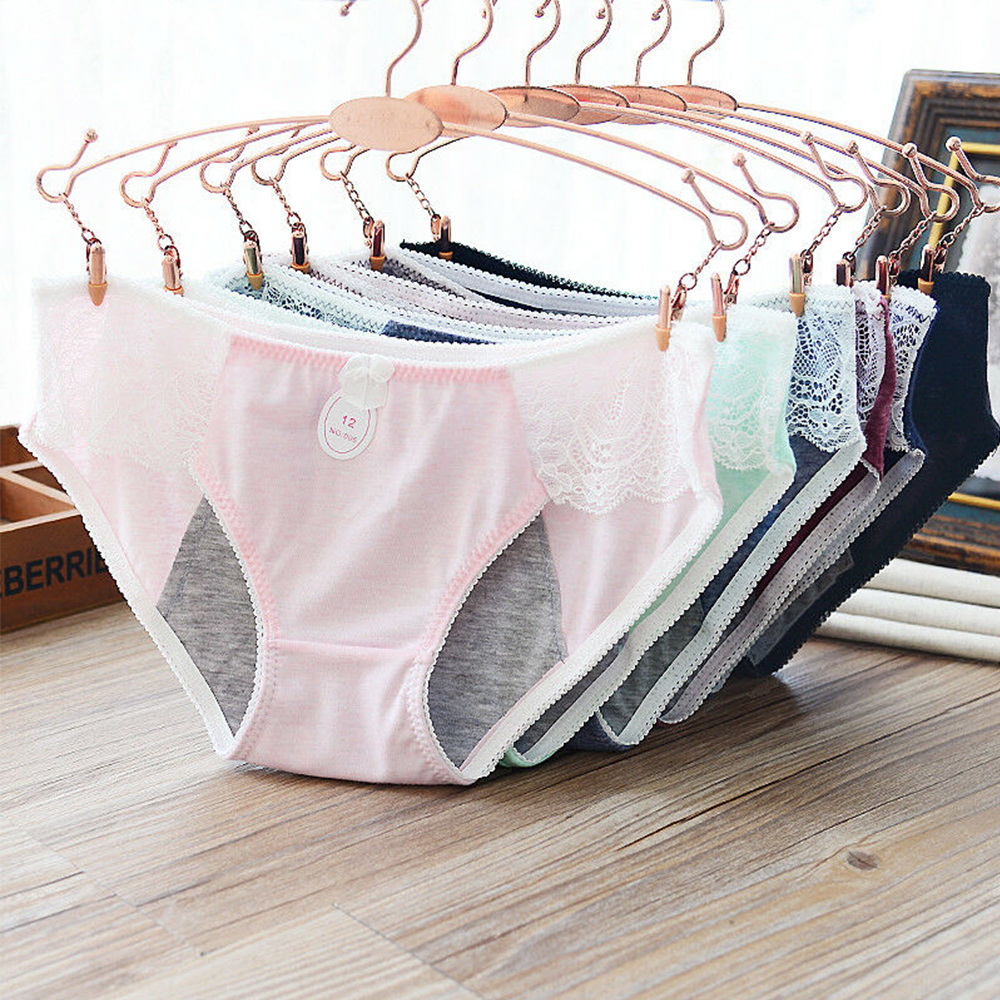 Leak Proof Menstrual Period Panties Women Physiological Panties Cotton Health Seamless Low Waist Warm Female