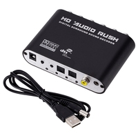 AMS 5.1 CH Audio Decoder SPDIF Coaxial To RCA DTS AC3 Digital To 5.1 Amplifier Analog Converter For PS3,DVD Player, Xbox