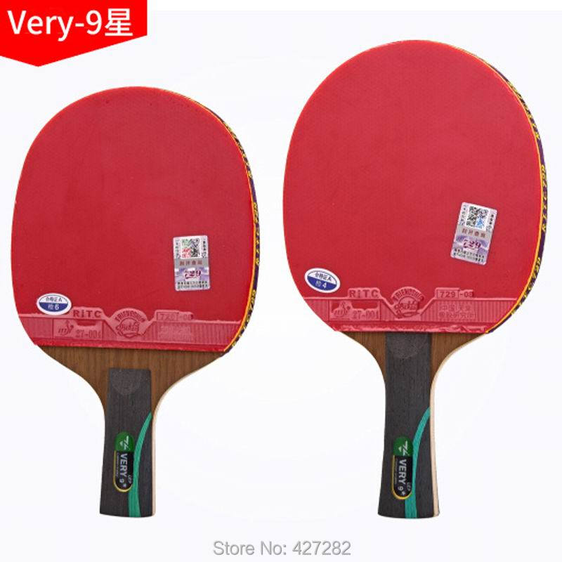 Original 729 Finished Racket Very-9 Fast Attack With Loop Carbon Table Tennis Racket Ping Pong Racquet Pimples In For Both Side
