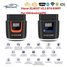 Viecar ELM327 V2.2 VP003 VP004 Bluetooth 4.0/WIFI Scanner ELM 327 OBD II/EOBD Support for Android/iOS OBD2 Car Diagnostic Tool(China)