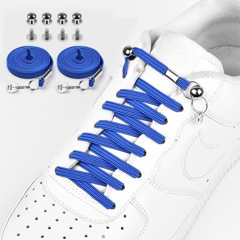 Pas de lacets de cravate plat une main rapide métal verrouillage lacets paresseux enfants et adultes loisirs baskets chaîne de chaussures unisexe 1 paire | AliExpress