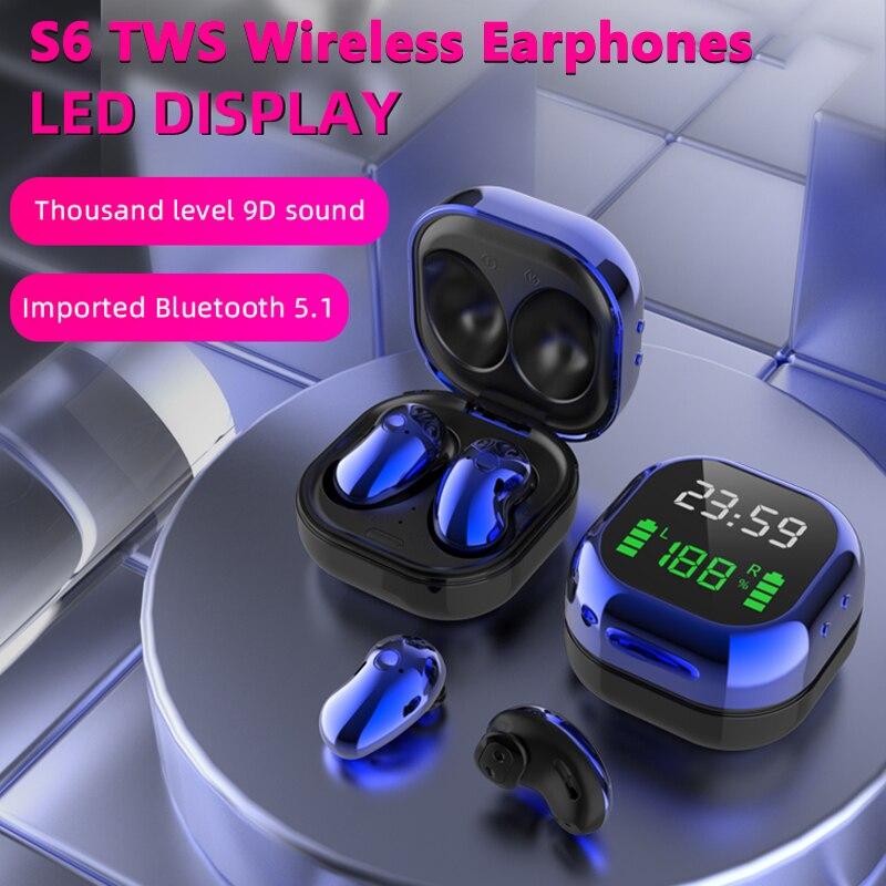 S6 Plus TWS sans fil Bluetooth écouteur suppression du bruit écouteurs casque de jeu pour Iphone Huawei Samsung Xiaomi musique casque