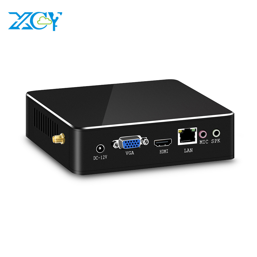 XCY 7th Gen Mini PC Intel Core i7 7500U i3 7100U i5 7200U HDMI WiFi Windows 10 Desktop HD Graphic 620 Cooler fan Mini Computer image