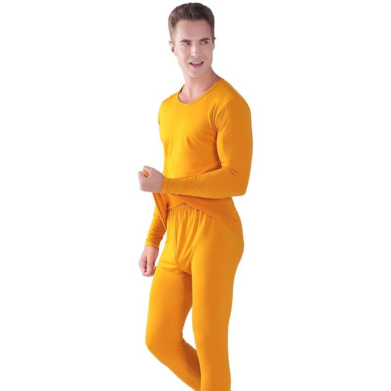 Set di Biancheria Intima termica Per Gli Uomini di Inverno Termico Biancheria Intima lunga johns Vestiti di Inverno Degli Uomini di Spessore Abbigliamento Termico Solid tenere in caldo - 5