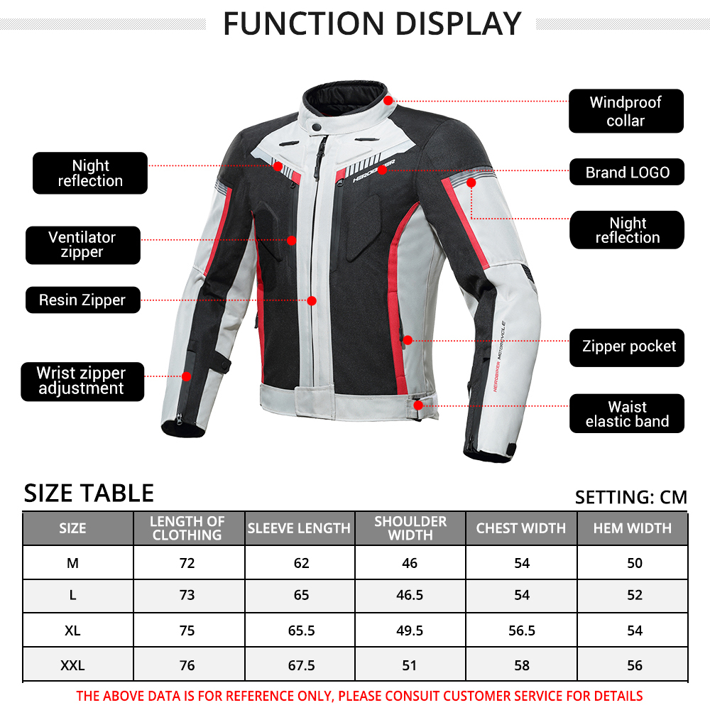 HEROBIKER Motorcycle Jacket Protective Gear Waterproof Moto Jacket Men's Motocross Clothing Motorcycle Suit With 5 Protector 4