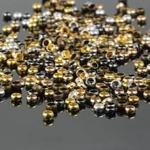 500 pçs/saco cobre ouro prata bola friso final contas diâmetro 1.5/2/3/4mm rolha espaçador contas para diy jóias fazendo descobertas suprimentos