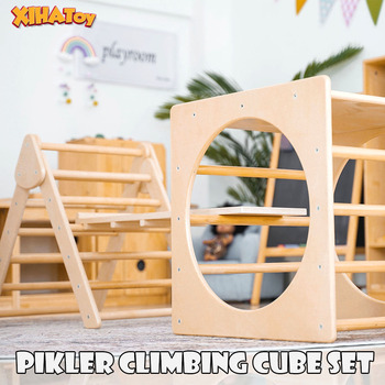 Pikler Arch Pikler Ramp Triangle Montessori Furniture Sets Baby Toys Climbing Toddler Wooden Gym Kindergarten Dropship