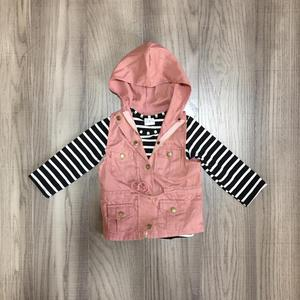 Image 5 - fall/winter baby girls cotton long sleeve top t shirt mustard olive vests and stripe tops hoodie raglans children clothes coat
