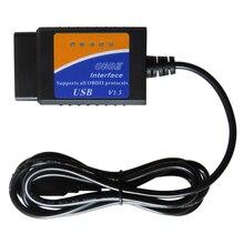 Scanner ELM327 USB V1.5 OBD2 per Auto ELM 327 V 1.5 OBDII strumenti diagnostici automatici ELM 327 OBD 2 interfaccia diagnostica lettore di codice