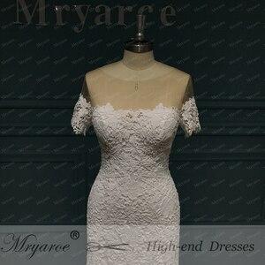 Image 3 - Mryarce 2020 ภาพลวงตาคอปิดไหล่ลูกไม้ Mermaid Love ชุดแต่งงานชุดเจ้าสาว Boho CHIC