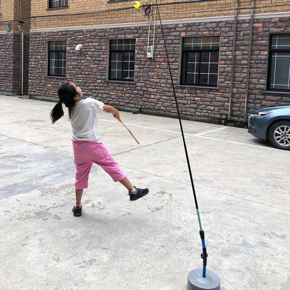 Badminton Solo Practice Training Aid Serve Sport Exercise Base Racket Device Powerbase Self Study Equipment Rebound Device