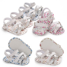 Baby Shoes Fist Walkers Soft-Sole Infant Summer Cute Cotton Cloth Floral