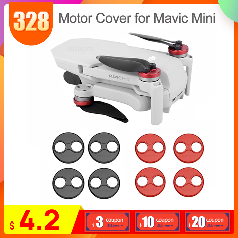 4PCS DJI Mavic Mini Accessories Motor Cover Protector for Mavic Mini Drone Aluminium Cap Engine Guard Protective Dust proof on AliExpress