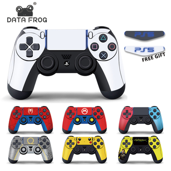 DATA FROG Vinyl Decal Protective Skin Stickers For PS4 Controller Full Cover Skin Cover For PS4 Slim/Pro Gamepad Accessories new popular cod decal skin cover for playstation 4 slim for ps4 slim console stickers skin 2 pcs controller vinyl skins