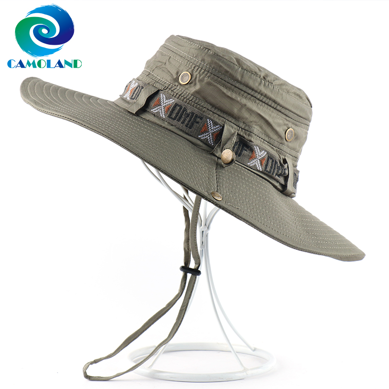 CAMOLAND Waterproof Bucket Hat For Men Women Outdoor Fishing Cap Summer UV Protection Sun Hat Male Panama Cap Female Beach Hats