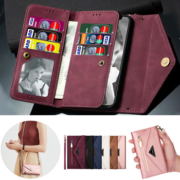 Wallet Leather Case for Huawei P40 P20 P30 Mate 20 10 Pro Lite Y6 Y7 2019 P30lite Luxury Flip Card Holder Phone Cover Women Etui