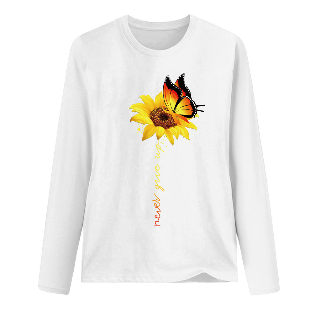 Womens Sunflower Summer T Shirt Plus Size Loose Blouse Tops Girl Short Sleeve Graphic Casual Tees