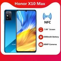 Original Honor X10 Max 5G SmartPhone 7,09 pulgadas RGBW pantalla 5000mA batería NFC 6GB 8GB RAM 128GB ROM principal 48MP 22,5 WSuper cargador
