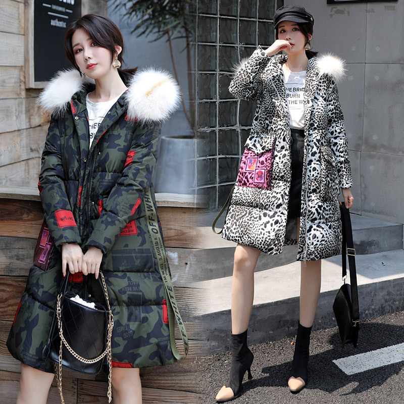 2019 Camouflage Cotton-padded Clothes Female Winter New Style Korean-style Versatile Down Feather Cotton-padded Jacket Coat Warm