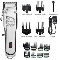 Tagliacapelli professionale per barbiere tagliacapelli professionale per uomo tagliacapelli elettrico in metallo taglio di capelli ricaricabile