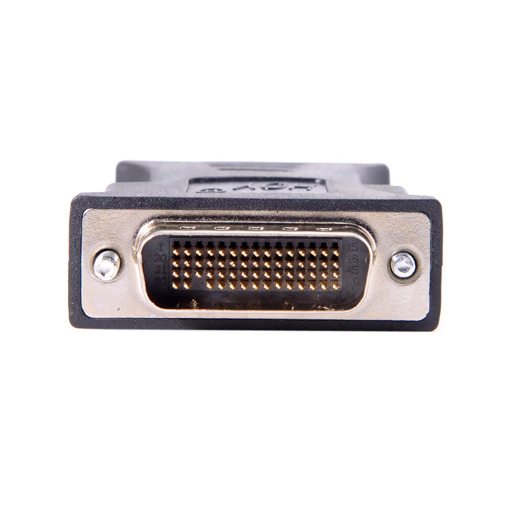 Black 1 to 1 DMS-59 DMS59 59Pin DVI Male to 1-Port VGA Female Video Y Splitter SHORT Cable 1 PC to 1 MONITOR