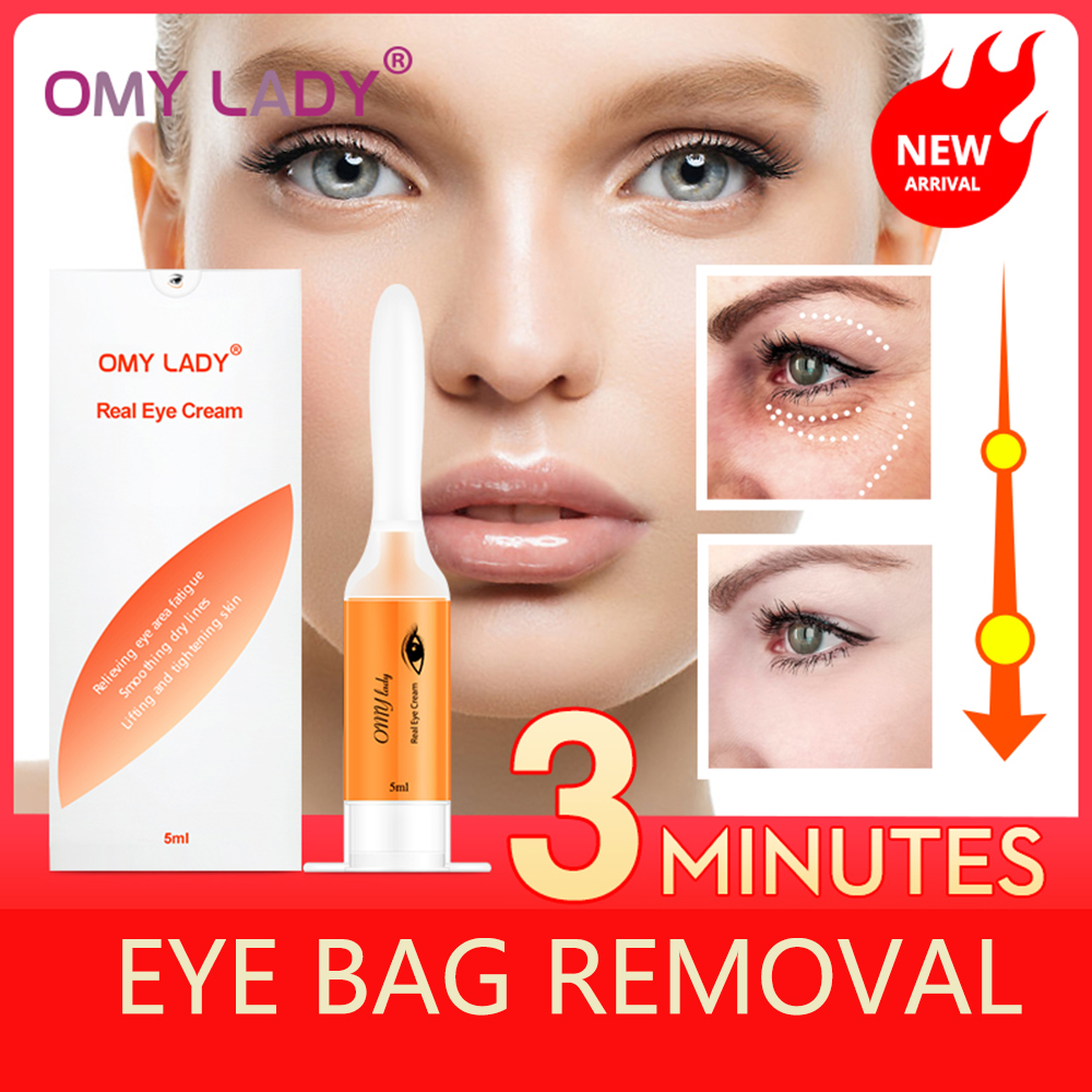 5ML  3 Minutes Instant  Remove Eyebags  Magic Eye Cream Firming Eye Anti Puffiness Dark Circles Under Eye Anti Wrinkle Eye Care