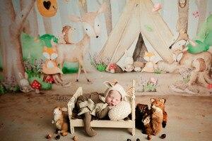 Image 1 - Hayvanlar orman fotoğraf Backdrop Jungle Safari tema karikatür yenidoğan bebek duş doğum günü partisi zemin stüdyo fotoğraf Prop