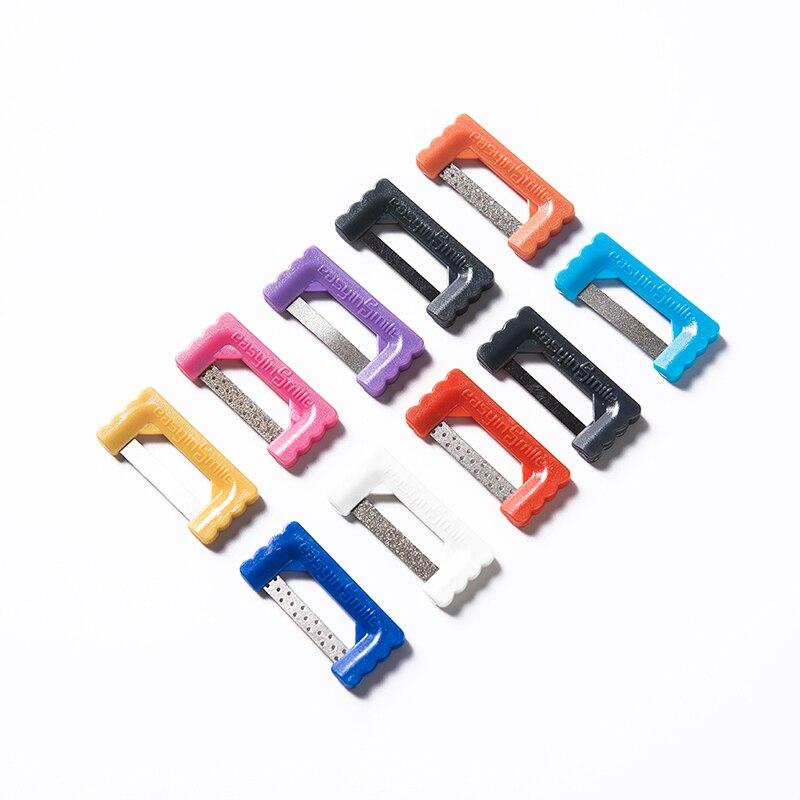 10pcs ipr alem de descascamento do sistema dental oral superficie adjacente tira polimento ferramentas molar implante