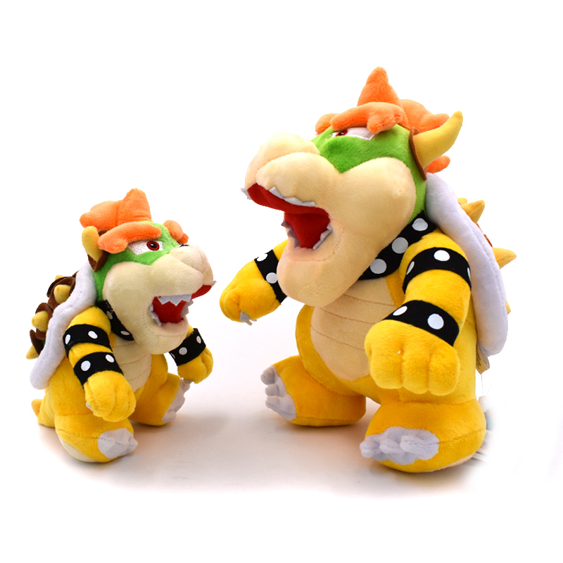2 Styles Optional Bowser Plush Mario Bros Bowser Koopa Stuffed Doll Soft Plush Doll Gift For Children Free Shipping