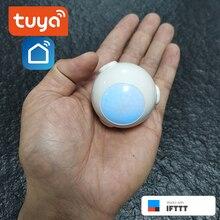 Vita intelligente Alimentato A Batteria WiFi Tuya PIR Sensore di Movimento del Rivelatore Sistema di Allarme Domestico di lavoro con IFTTT