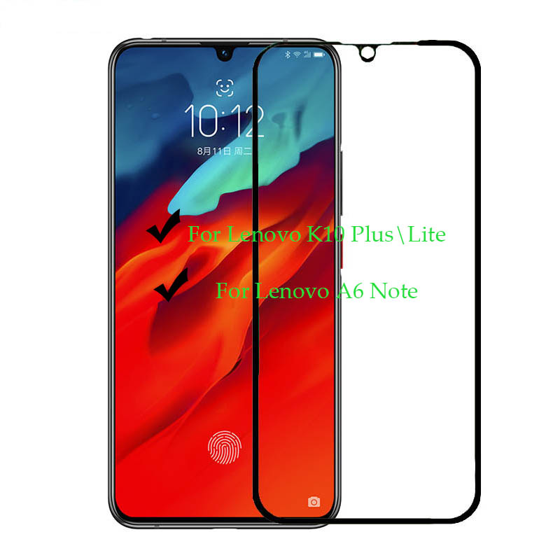 Full Cover Toughened Tempered Glass Film For Lenovo K10 Plus A6 Note Screen Protector Protective Glass