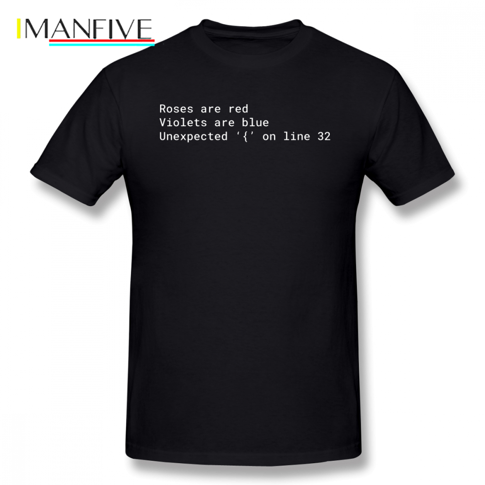 Php T-Shirt Syntax Error Poem T Shirt Letter Print Classic Tee Shirt Summer Short Sleeve Male Cotton T Shirts Plus Size 5XL 5XL