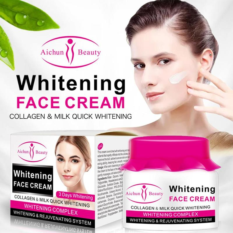 Natural Collagen Milk Face Cream Acne Scar Removal Cream For Face Skin Care Whitening Cream Stretch Marks Nourishing Hydrating