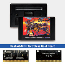 X Men   EUR Label Flashkit MD Electroless Gold PCB Card for Sega Genesis Megadrive Video Game Console