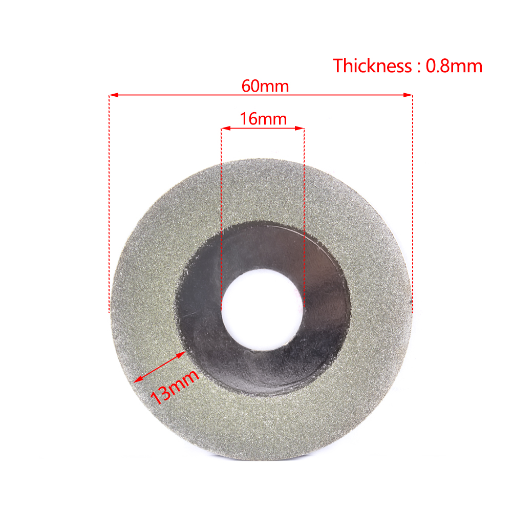 2-50Pac 60*16*0.8mm Diamond Cutting Grinding Disc Polishing Blade For Angle Grinder For Grinding And Cutting Jade