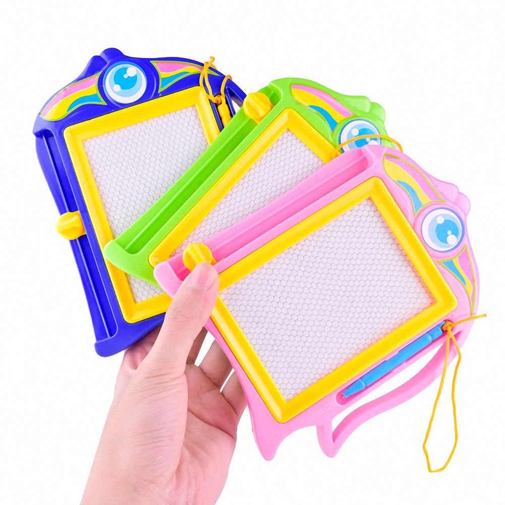 Montessori magnético desenho tos tablet placa de pintura de plástico antistress desenvolvimento brinquedos educativos para crianças ferramenta de coloração